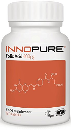Folic Acid 400ug | Introductory Offer | One a Day Easy to Swallow Tablets, 4 Months Supply | Vegan, Vegetarian Society Approved Test