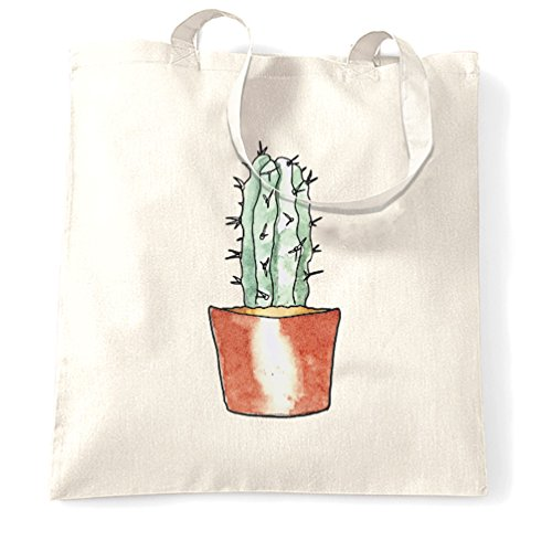 Cactus Pocket Stampa fredda Girly Pretty Cute disegno dolce Sacchetto Di Tote White