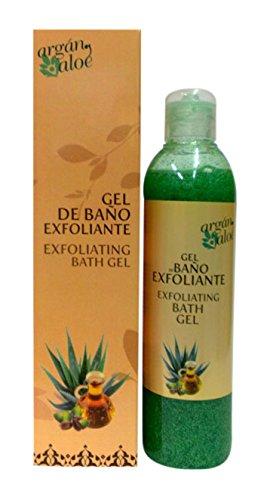 Argan-Aloe 70230 - Gel de baño exfoliante con aloe y argán, 250 ml