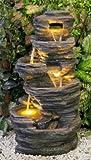 Avoca Kaskadenbrunnen mit LED-Beleuchtung
