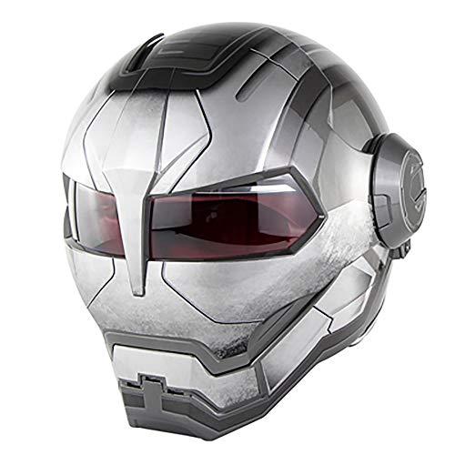 WLJBY Vollgesichtsmotorradhelme Motorrad-Dirt-Fahrradhelm D.O.T zertifizierte Persönlichkeit Flip-Offene Maske Quad-Fahrradschutzhelm, Iron Man Transformers (Farbe:...
