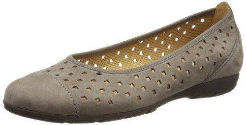 Gabor Shoes Gabor 64.169.13 - Bailarinas de Cuero para Mujer, Color Gris, Talla 43