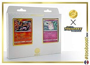 Entei 47/214 Y Grodoudou (Wigglytuff) 134/214 - #tooboost X Soleil & Lune 8 Tonnerre Perdu - Box de 10 Cartas Pokémon Francés + 1 Goodie Pokémon