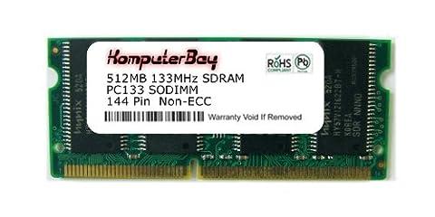 Komputerbay 512 SDRAM SODIMM (144 broches) PC133 LD 133Mhz pour Apple Mac Mémoire iMac Flat Panel 800 (M9105LL / A) 512