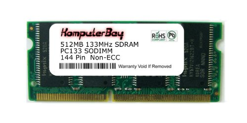 144 Pin Sodimm Pc133 Notebook (Komputerbay 512MB SDRAM SODIMM (144 Pin) LD 133Mhz PC133 für Toshiba Satellite Pro TE2000 512MB)