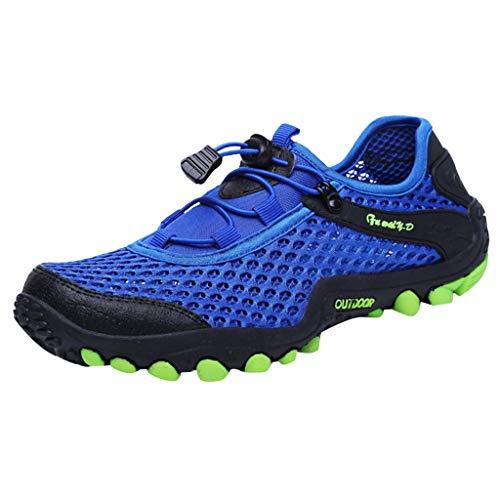 CUTUDE Herren Damen Sommer Sneaker Tauchschuhe Schnorchelschuhe Geschwindigkeitsstörung Wasser Stromaufwärts Schuhe Outdoor Strandschuhe Schwimmen (Blau, 40 EU)