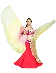 Dance Fairy Isis alas arco iris colorido de danza del vientre grande grande No.1 para Navidad sin palos
