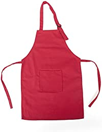 Delantal colorido de lona para niños de la marca Opromo, con bolsillo, tanto para