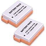 Happyjoy 2 Pack LP-E8 High Capacity Replacement Li-ion Camera Battery Pack For Canon Rebel T5i