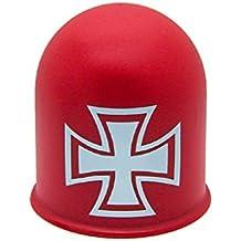 Schutzkappe f/ür Anh/ängerkupplungen Towing Hitch Accessoires Kreuz Cross braun