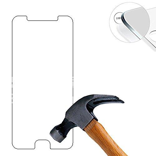 Lusee® 2 X Pack Panzerglasfolie Tempered Glass Hartglas Schutzfolie für Doogee Shoot 1 5.5 Zoll Premium Screen Folie Protector Ultra Hart Bildschirmschutz 0,3mm 9H Clear 2.5D