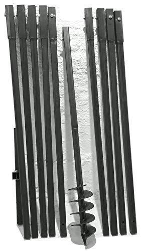 MWS-Apel Erdbohrer Erdlochbohrer Brunnenbohrer Pfahlbohrer Handerdbohrer 120 mm 10 meter Bohrgerät f. Brunnen und Rammfilter