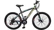 VLRA BIKE Mountain Bike 26 inch| 21 Speed |Sturdy Carbon Steel Frame Bike| Fronk Fork Suspension System | For