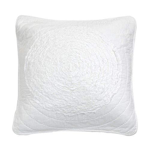 brandream Queen Size weiß grau Bettwäsche, Steppdecke Set luxuriöse Tagesdecke - Queen-size-standard-tröster