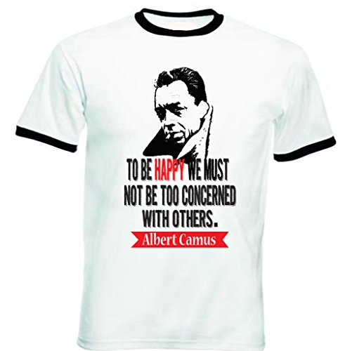 teesquare1st-albert-camus-to-be-happy-tshirt-de-hombre-con-bordes-negros-size-medium