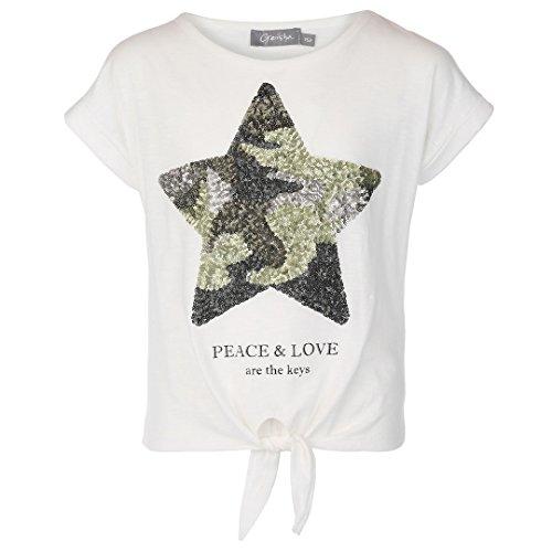 Peach Mädchen-shirt (Geisha Mädchen T-Shirt Peach & Love White 82092K (176))