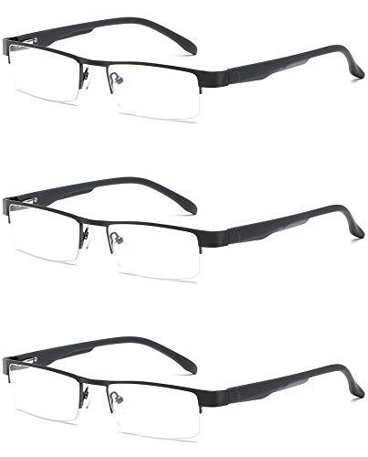 3c128fab648 VEVESMUNDO® Reading Glasses Men Women Spring hinge Classic Metal Half Frame  Glasses Optics Work Eyeglasses