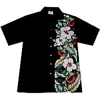 "Camicia Hawaiiana / Hawaiana ""Classic Black"", 100% di cotone, taglia M – 6XL"