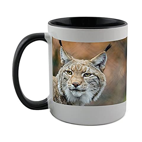 Mug with black coat inside of Lynx, Bobcat, Wildlife, Predator, Nature (Bobcat Lynx)