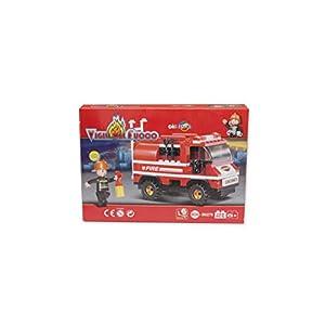 GIRM® Giochi - DE121467-C6.2 Costruzioni per Bambini compatibili Lego Camion dei Pompieri 133 pz 8009562395472 LEGO