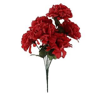 non-brand Flor de Crisantemo Ramo Artificial Cementerio Flores Decoración de Hogar – Morado, 35cm