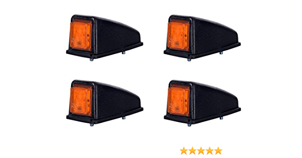 4 X 3 Smd Led Orange Dachleuchte Begrenzungsleuchte Seitenleuchte 12v 24v Mit E Prüfzeichen Positionsleuchte Auto Lkw Pkw Lampe Leuchte Licht Gelb Auto