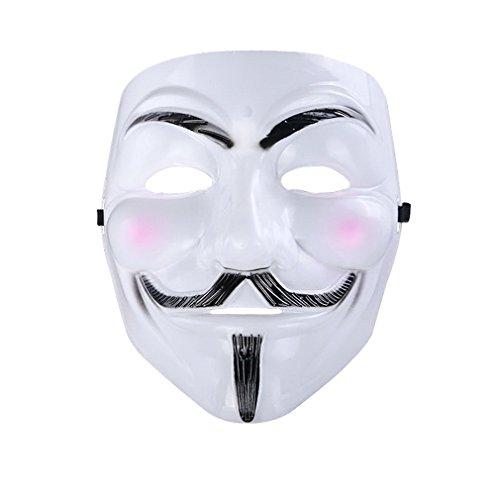 YAZILIND Mode weiß Kopf Maske Horror