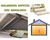 FUTURAZeta - Lana minerale isolante ROTOLO mq.15,60 isolamento termico coibent solaio soffitto