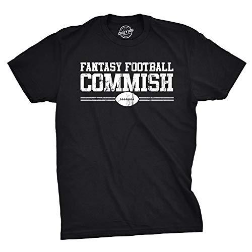 Crazy Dog Tshirts - Mens Fantasy Football Commish T Shirt Funny Sports Shirt Football Tee (Black) - M - Herren - M