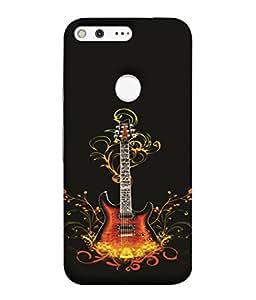 PrintVisa Rocking Guitar Instrument 3D Hard Polycarbonate Designer Back Case Cover for Google Pixel XL