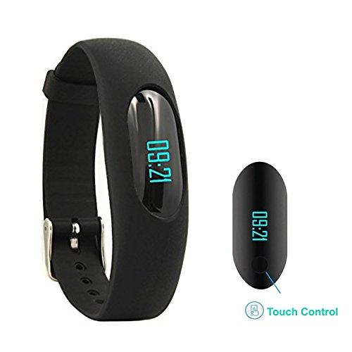 AsiaLONG Smart Armband Schrittzähler Fitness Tracker Ohne Bluetooth Fitness Armband mit OLED Display/Zeit Datum/Schritte Zählen/Schlafanalyse/Kalorienanalyse/Kilometerzähler/Geschwindigkeit für Damen Herren Studenten Kinder