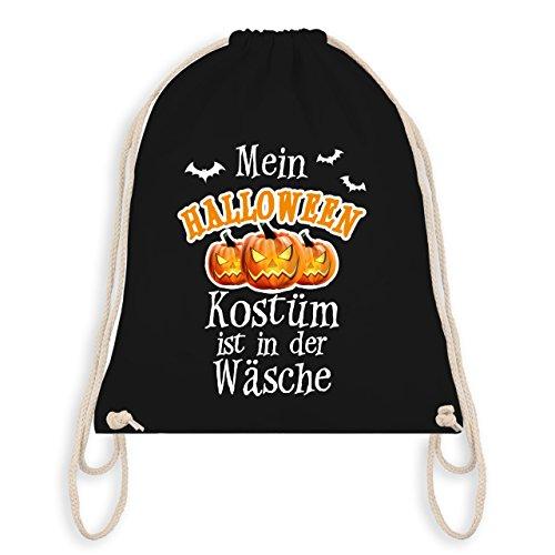 Halloween - Mein Halloween Kostüm ist in der Wäsche - Unisize - Schwarz - WM110 - Angesagter Turnbeutel / Gym Bag