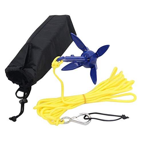 Descripción:Kit completo de anclaje para kayak / tabla de remo que incluye anclaje, cuerda de 16.4 pies y gancho de resorte y bolsa de almacenamiento.El anclaje es plegable y su tamaño compacto hace que sea fácil de almacenar y transportar.Con cua...