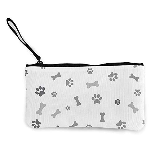 dewdferf Coin Purse Paw Print Cute Travel Makeup Pencil Pen Case With Handle Cash Canvas Zipper...