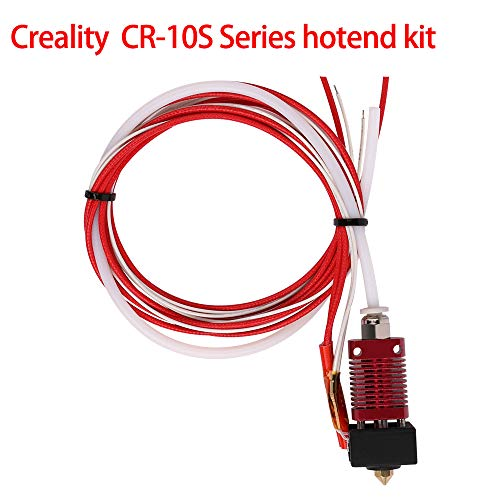 CCTREE Creality Original 3D Printer Extruder Assembled MK8 Hot End Kit for CR-7,CR-8 CR-10/CR-10S, S4, S5 with Aluminum Heating Block, 1.75mm, 0.4mm Nozzle