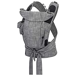 Hoppediz Bondolino Comfort Carrier for Babies Incl. Instruction, Denim-Black   2