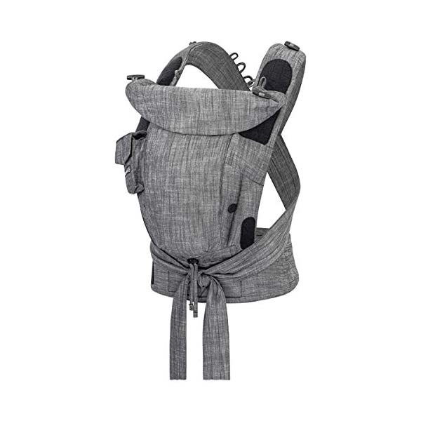 Hoppediz Bondolino Comfort Carrier for Babies Incl. Instruction, Denim-Black Hoppediz The bondolino one size is absolutely uncomplicated since there are no buckles, no push-buttons or snap locks Flexibly adjustable base for the correct spread-squat position Improved fixation of the base widening through an additional velcro fastener 1