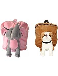 MGP Premium Play School Elephant & Brown Pug Dog Bag