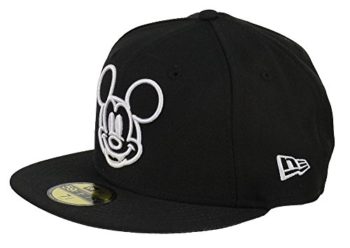 DISNEY - NEW ERA 59FIFTY BASECAP - MICKEY MOUSE - WHITE FACE - BLACK -