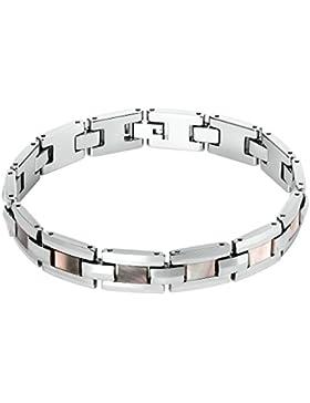 Adisaer Edelstahl Armband Herren Platz Armbänder Gliederarmband Für Männer Armreifen Silber Länge 23CM