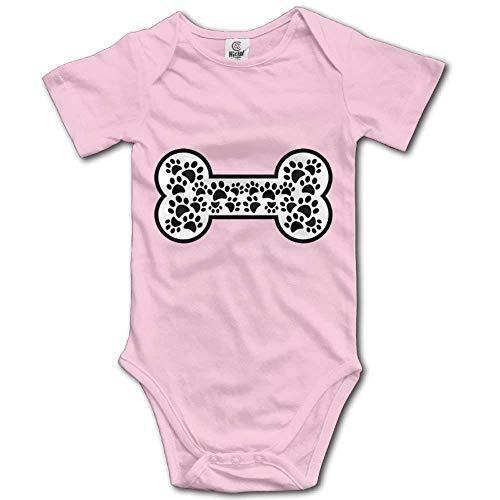 Babybekleidung Jungen Mädchen T-Shirts, Dog Bones Baby Bodysuit Pure Cotton Multi-Functional Baby Onesie 0-24 Months -