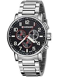 Wenger Unisex-Armbanduhr 01.0343.105 WENGER  ATTITUDE CHRONO Analog Quarz Edelstahl 01.0343.105 WENGER  ATTITUDE CHRONO