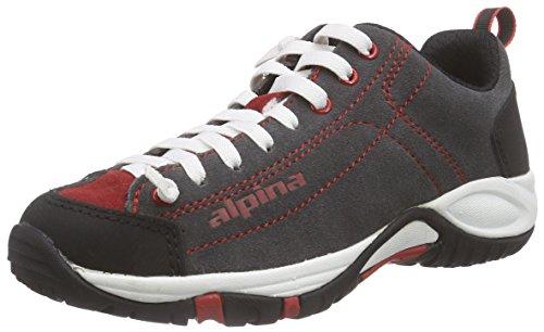 alpina Unisex-Erwachsene 680341 Trekking-& Wanderhalbschuhe Rot (gray/red)