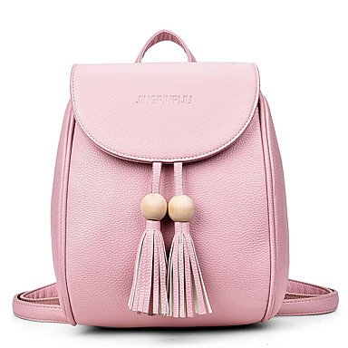 Frauen Rucksack PU All Seasons formale Casual Shopping Shell magnetische Rot Pink Rot Schwarz Weiss Braun Blushing Pink