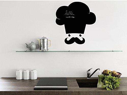 Lavagna adesiva Stickers murali lavagna per cucina Il cuoco