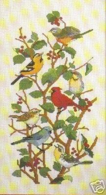 Feathered Friends Kreuzstich Diagramm/Muster–7verschiedenen Rassen von Vögeln (Leaflet Kreuzstich)
