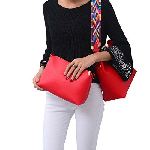 DISSA S890 neuer Stil PU Leder Deman 2018 Mode Schultertaschen handtaschen Henkeltaschen set,275×120×240(mm) Rot