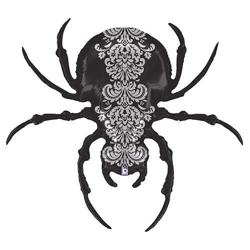 Betallic Folienballon 35185Pretty Scary Spider, 119,4cm farbenreiche