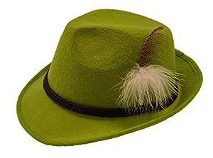 Partychimp, Sombrero de Plumas para Hombre, HellGrün, Talla única