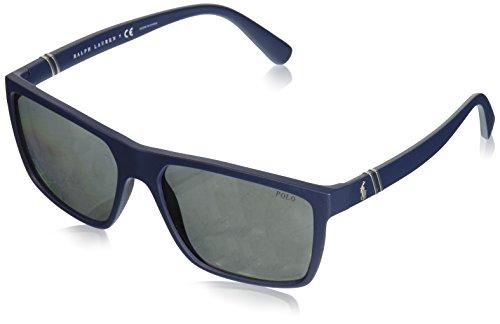 Polo Ralph Lauren Herren 0Ph4133 56186G 59 Sonnenbrille, Blau (Navy Blue/),